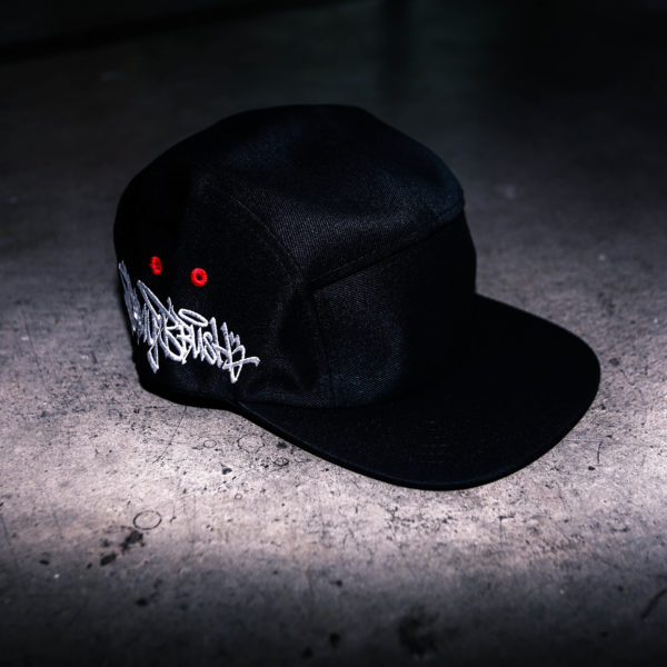 Black SprayBrush 5 Panel Cap
